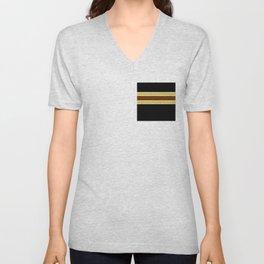 Team Colors...Brown , gold, white and black Unisex V-Neck