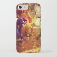 dinosaurs iPhone & iPod Cases featuring Dinosaurs by Rhiannon