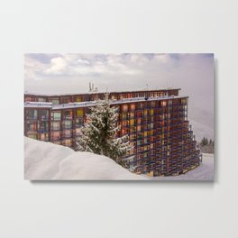Mountain architecture colorful Metal Print