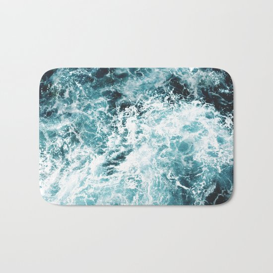 Sea Waves Bath Mat