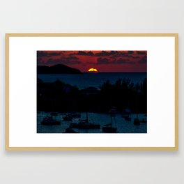 Jamaica Sunset Framed Art Print