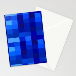 Blue Mosaic Stationery Cards
