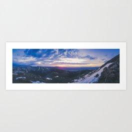 Sunrise over Mt. Yale Art Print