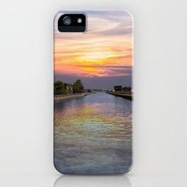 Ballard Locks at Sunrise iPhone Case