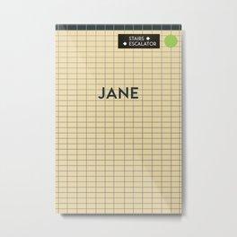 JANE | Subway Station Metal Print