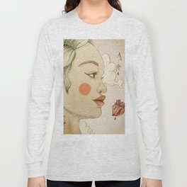 thoughtful woman Long Sleeve T-shirt