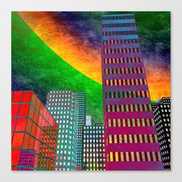 the colored city -2- Canvas Print