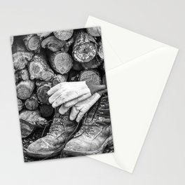 Manual Labor - Firewood 1 Stationery Cards