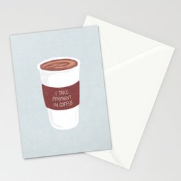 Payment In Coffee Stationery Cards