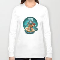 squirtle Long Sleeve T-shirts featuring Squirtle by Danilo Fiocco