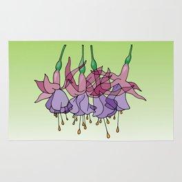 Purple Fuchsias Rug