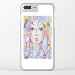 Rainbow eyes Clear iPhone Case