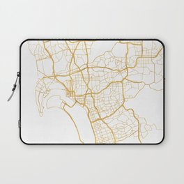 SAN DIEGO CALIFORNIA CITY STREET MAP ART Laptop Sleeve