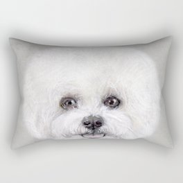 Bichon illustration, Dog illustration original painting print Rectangular Pillow