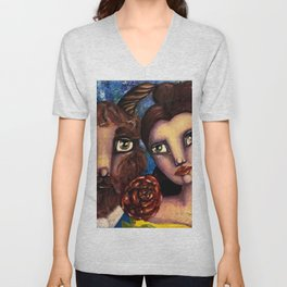 Beauty & the Beast Unisex V-Neck