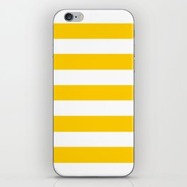 USC Gold - solid color - white stripes pattern iPhone Skin