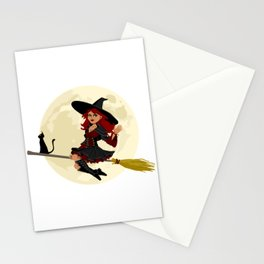 Friendly halloween witch Stationery Cards