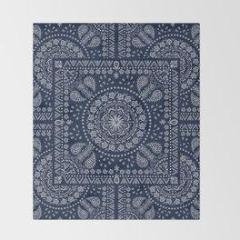 Zendana Navy Bandana Throw Blanket