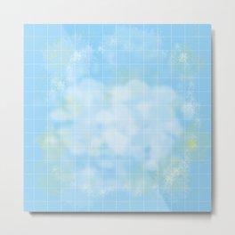 Clouds on a Grid Metal Print