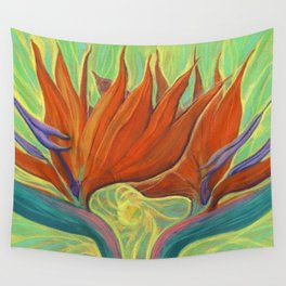 Strelitzia / Bird of Paradise Wall Tapestry