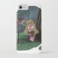 aurora iPhone & iPod Cases featuring Aurora by David Pavon