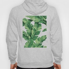 Tropical banana leaves Hoody
