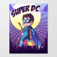 dc comics Canvas Prints featuring Super DC by Sunshunes