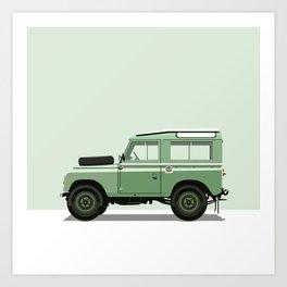 Car illustration - land rover defender Kunstdrucke