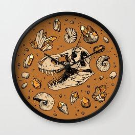 Geo-rex Vortex   Citrine Quartz Wall Clock