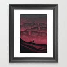 Sleeping Town Framed Art Print