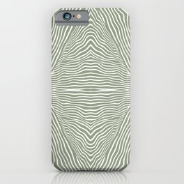 Boho, Safari, African, Pattern, Sage Green iPhone Case