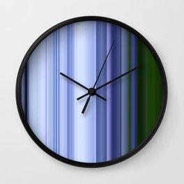 Scanline | Lobelia 538 Wall Clock