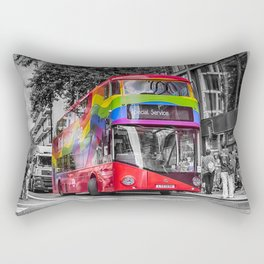 London Red Bus Special Service Rectangular Pillow