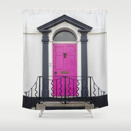in through the pink door… a splash of colour for the front entrance door Shower Curtain