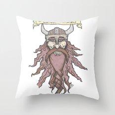 #ghostviking Throw Pillow