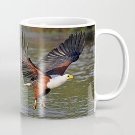 African fish eagle fishing in a river - Africa wildlife Coffee Mug