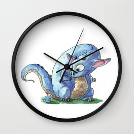 The love of a dragon mom for her little baby Wall Clock