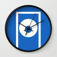 monsters inc Wall Clocks featuring Monsters inc (no title) by Citron Vert