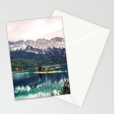 Green Blue Lake and Mountains - Eibsee, Germany Stationery Cards