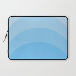 Four Shades of Tuquoise Curved Laptop Sleeve