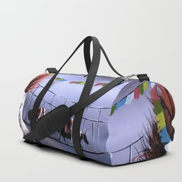 Panoramic View Of Everest Mountain Duffle Bag