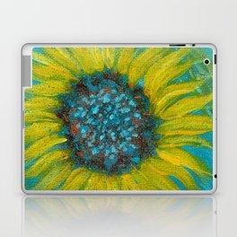 Sunflowers on Turquoise II Laptop & iPad Skin