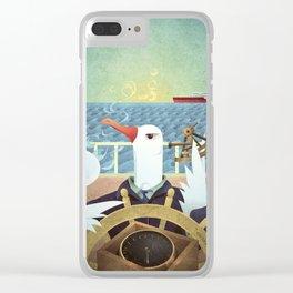 A-Z Animal, Albatross Quartermaster - Illustration Clear iPhone Case