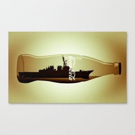Destructor impossible bottle Canvas Print