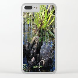 Womb of the Slough (vertical) Clear iPhone Case