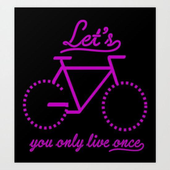 Bike Life Art Print