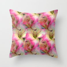 In the Flower Garden Throw Pillow