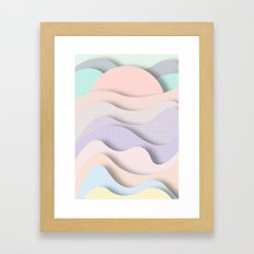 Wave I Framed Art Print