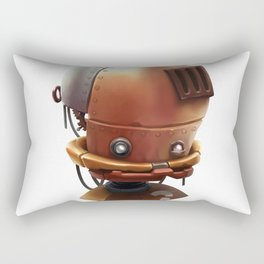 The wierd cute steampunk robot Rectangular Pillow