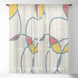 Playful Design Strawberry Sheer Curtain